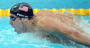 在男子200米自由泳决赛中,菲尔普斯获得自己在北京奥运会上的第三枚金牌。