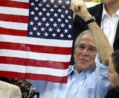 布什亲临水立方 为菲尔普斯助威