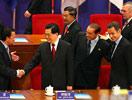 胡锦涛主席和各国元首亲切寒暄