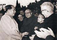 毛泽东主席接见林巧稚教授(右二)等医学界人士