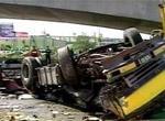 大货车刹车失灵撞死4人