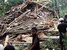 印尼爪哇地震毁掉的房子