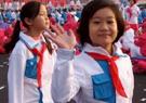 天安门广场学生表演队伍