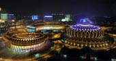 济南奥体中心,东荷西柳,全运会场馆,第十一届全运会,山东全运会