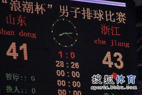 43-41,浙江队首局赢得非常不易