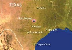 美国枪击案事发基地位置图