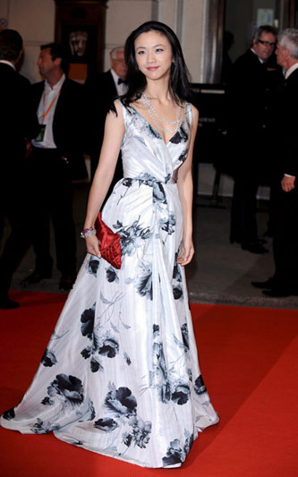 汤唯出席BAFTA Awards 资料图片