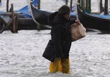 """关注哥本哈根气候大会:""""水城""""威尼斯被淹"""