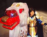 广州跨世纪机器人博览会,明日世界狮子美女 Lion Dance (Shi-shi mai)