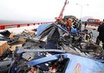 鄱阳湖大桥80多车追尾 已致10死50多伤