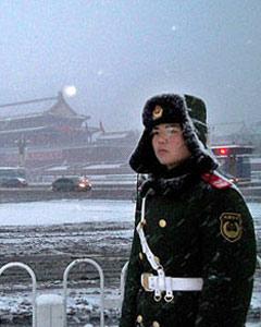 北京开始降下新年第二场雪