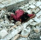 海地七级强震后实拍 死亡人数或达数千