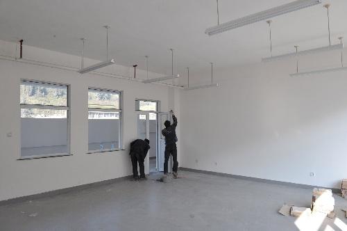北京援建文化站主体完工