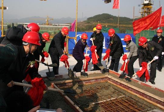 中国侨联主席林军浇混凝土