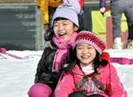 春节带孩子去滑雪