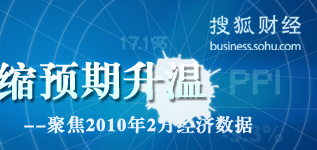 2月经济数据,2010年2月经济数据,经济数据统计,经济数据发布,2月CPI,2月PPI,2月房价