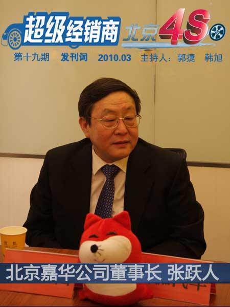 北京嘉华控股有限公司董事长:张跃人