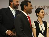 与马尔代夫总统和阿富汗王子