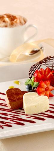 黑白软朱古力饼配杂锦果子汁酱,Zeffirino Ristorante,香港意大利餐厅