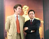 胡润与当代MOMA集团主席张雷