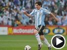 梅西精妙弧线射门被扑 世界杯阿根廷VS尼日利亚