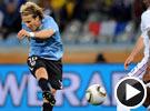 弗兰远射被门将洛里斯扑出 世界杯乌拉圭VS法国
