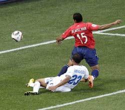南非世界杯,洪都拉斯VS智利,博塞茹