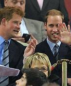 英国两位王子观战