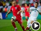 兰帕德挑传鲁尼怒射击中门柱 斯洛文尼亚VS英格兰