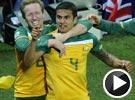 卡希尔接队友传中头槌破门 澳大利亚VS塞尔维亚