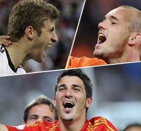 穆勒,斯内德,比利亚,南非世界杯