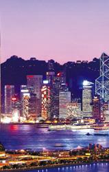 香港丽思卡尔顿酒店,夜景外观