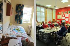 学生们的课堂和寝室