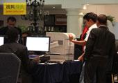 直击坎昆气候大会:会议主办方贴心的为记者们准备了打印机