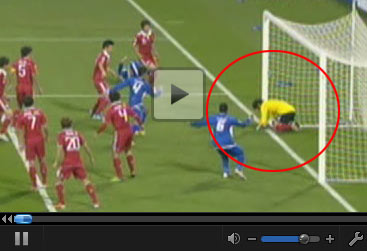 回放亚洲杯惊天误判 裁判扼杀科威特过线进球