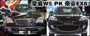 决出自主SUV的新人王 帝豪EX8对比荣威W5