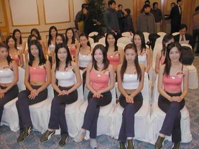 美女模特队明码标价