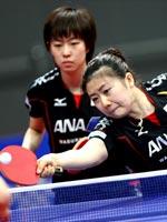 福原爱,石川佳纯,2011世乒赛