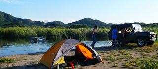 十三陵水库 宿营