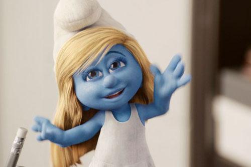 可爱 蓝精灵/可爱的蓝精灵在大森林里快乐的生活,可是巫师格格巫和阿兹猫总...