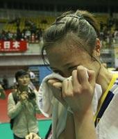 惠若琪激动落泪