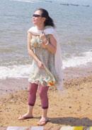 海边孤独的一朵小花
