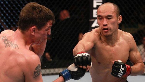 张铁泉微弱点数劣势惜败 UFC 136