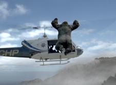 愤怒的猿族攻击直升机
