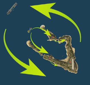 威克岛作战地图