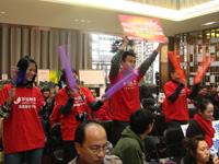 王牌留学服务团队 搜狐出国 王牌留学服务团队选拔赛 啦啦队