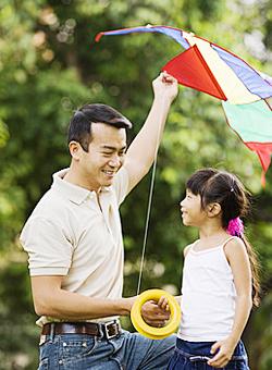 怎样带孩子放风筝