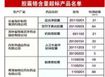 铬超标胶囊产品名单