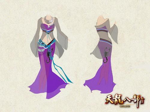 古代衣服女装手绘