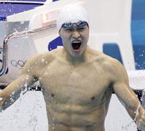男子400米自由泳孙杨夺金